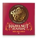 Willies Hazelnut and Raisin Chocolate